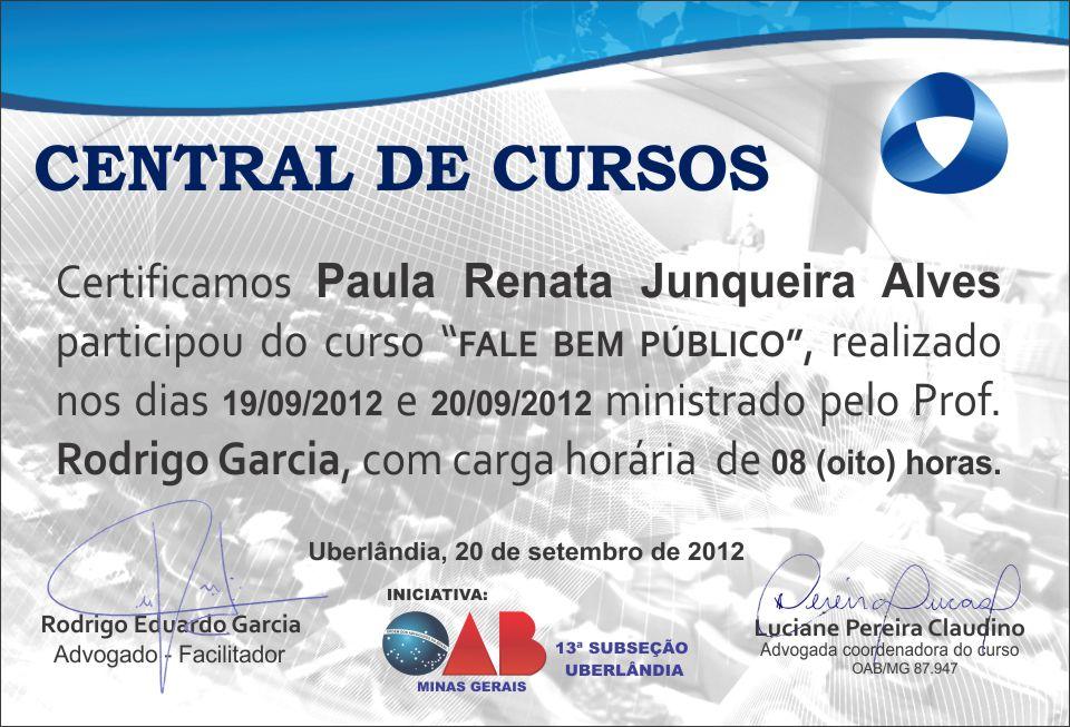 Certificado - Central de Curso