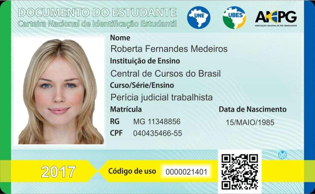 Documento de Estudante – Carteirinha de estudante Uberlândia