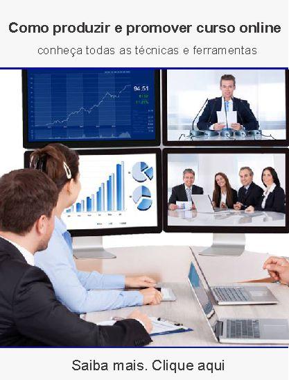 Curso de como promover e planejar cursos online
