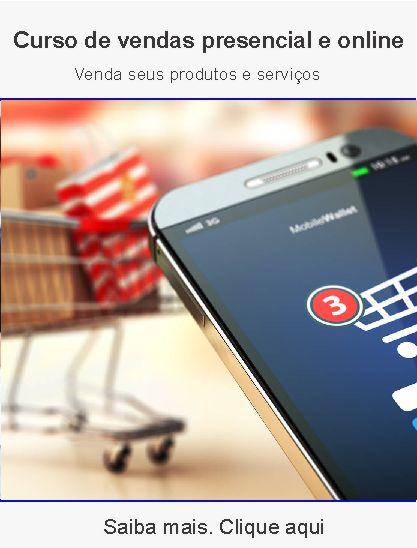 Curso de vendas presencial e online