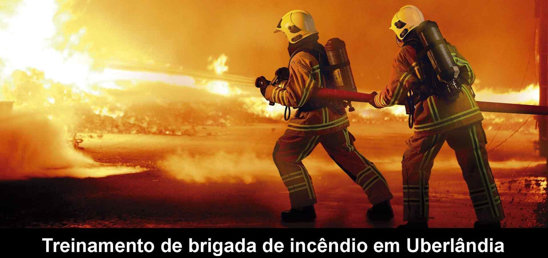 Brigada de incêndio em Uberlândia