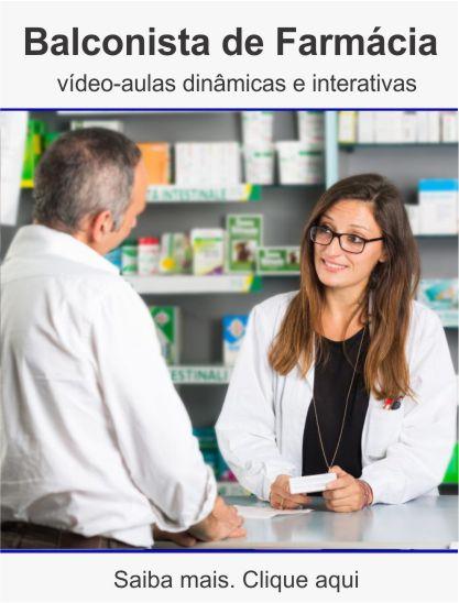 Curso de balconista de farmácia