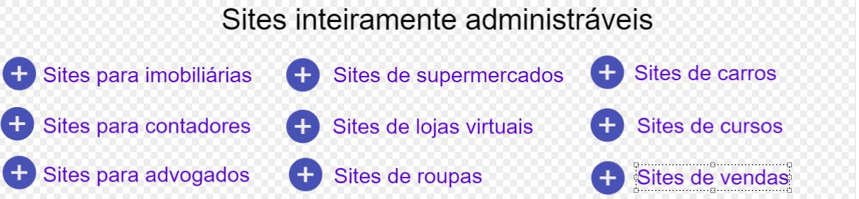 Sites administráveis