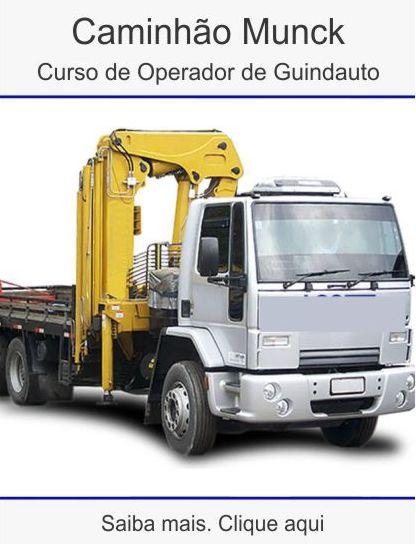 Curso operador de caminhão munck