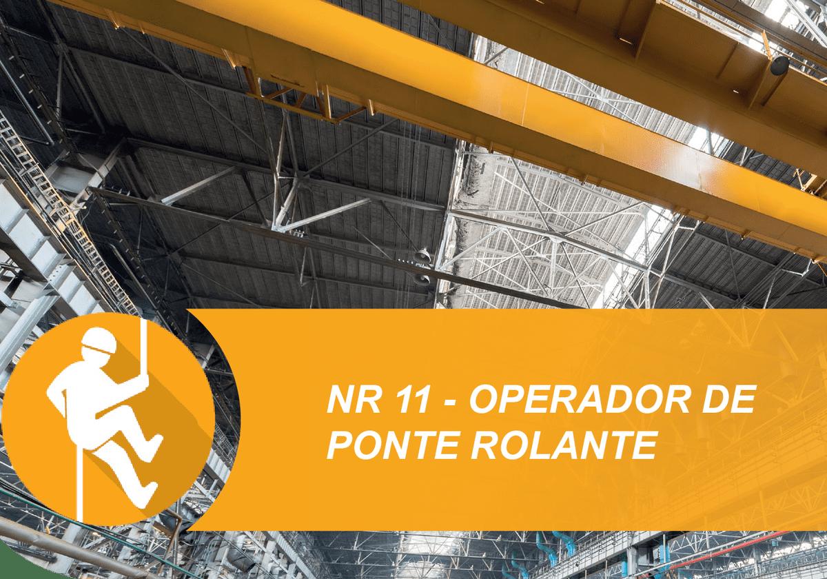 Operador Ponte Rolante – NR 11